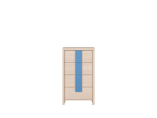 Komoda Caps KOM4S/50 Dub jasný Belluno/modrý