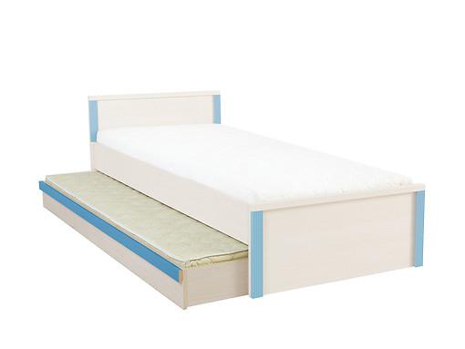 Dolná posteľ s matracom Caps LOZ/85D Dub jasný belluno/modrý
