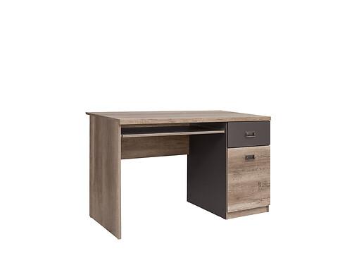 Stôl Malcolm BIU1D1S Dub monument/šedy wolfram/dub monument