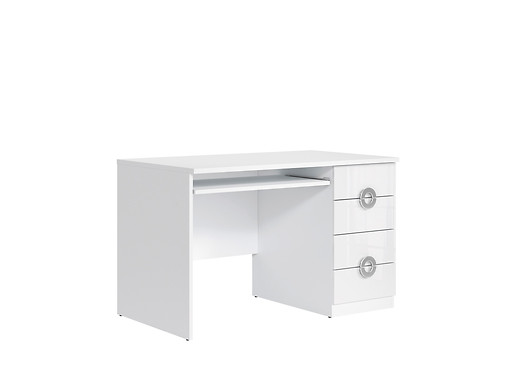 Stôl Ringo BIU4S/120 biela alpska/biely lesk