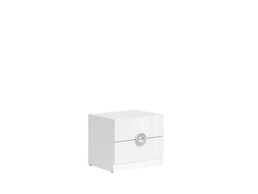 Nočný stolík Ringo KOM2S/5/4 biela alpska/biely lesk