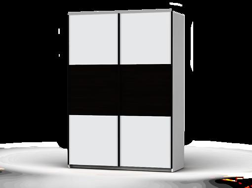 Šatníková skriňa Colin 153 cm biela/biela/dub wenge