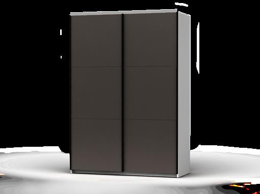 Šatníková skriňa Colin 153 cm biela/sivá