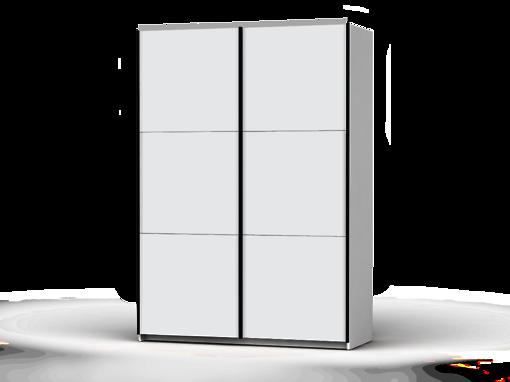 Šatníková skriňa Colin 153 cm biela/biela