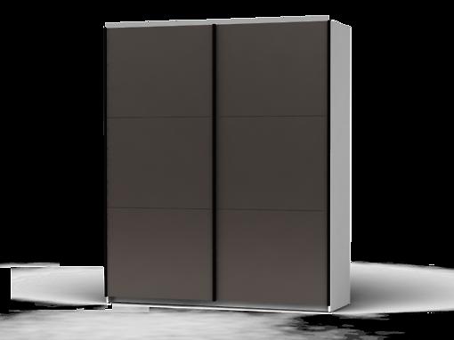 Šatníková skriňa Colin 183 cm biela/sivá