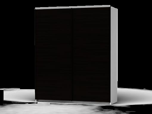 Šatníková skriňa Colin 183 cm biela/wenge