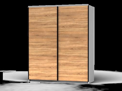Šatníková skriňa Colin 183 cm biela/dub sonoma