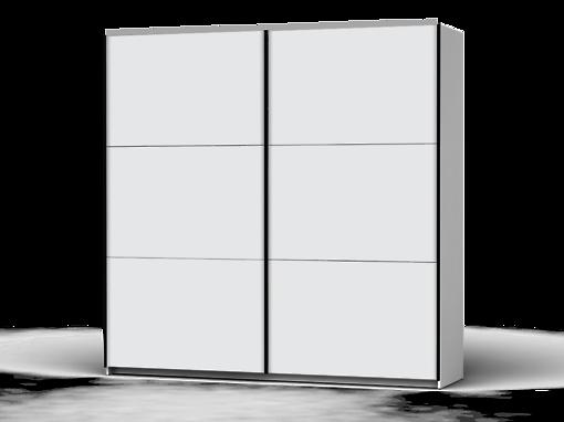 Šatníková skriňa Colin 220 cm biela