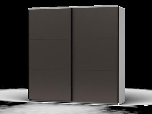 Šatníková skriňa Colin 220 cm biela/sivá