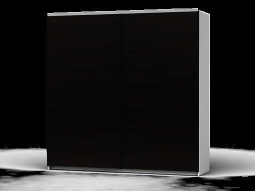 Šatníková skriňa Colin 220 cm biela/dub wenge