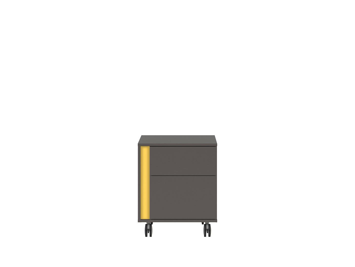 Kontajner na kolieskách GRAPHIC KTN2SP/C sivý wolfram