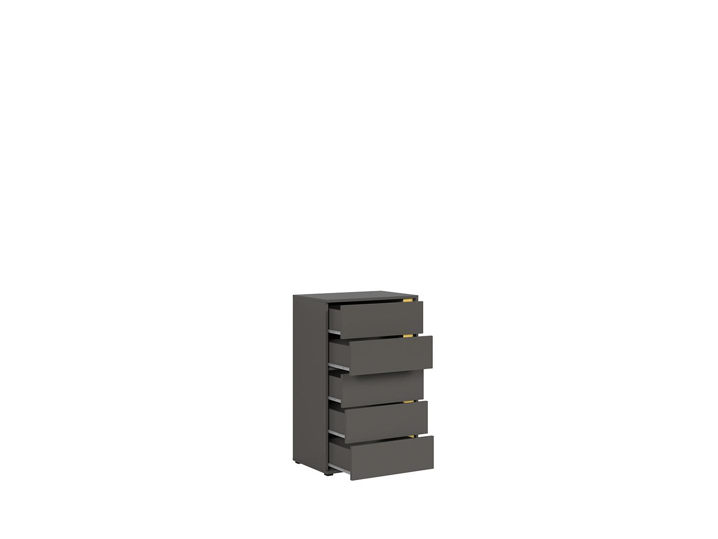 Komoda GRAPHIC KOM5SL/C sivý wolfram