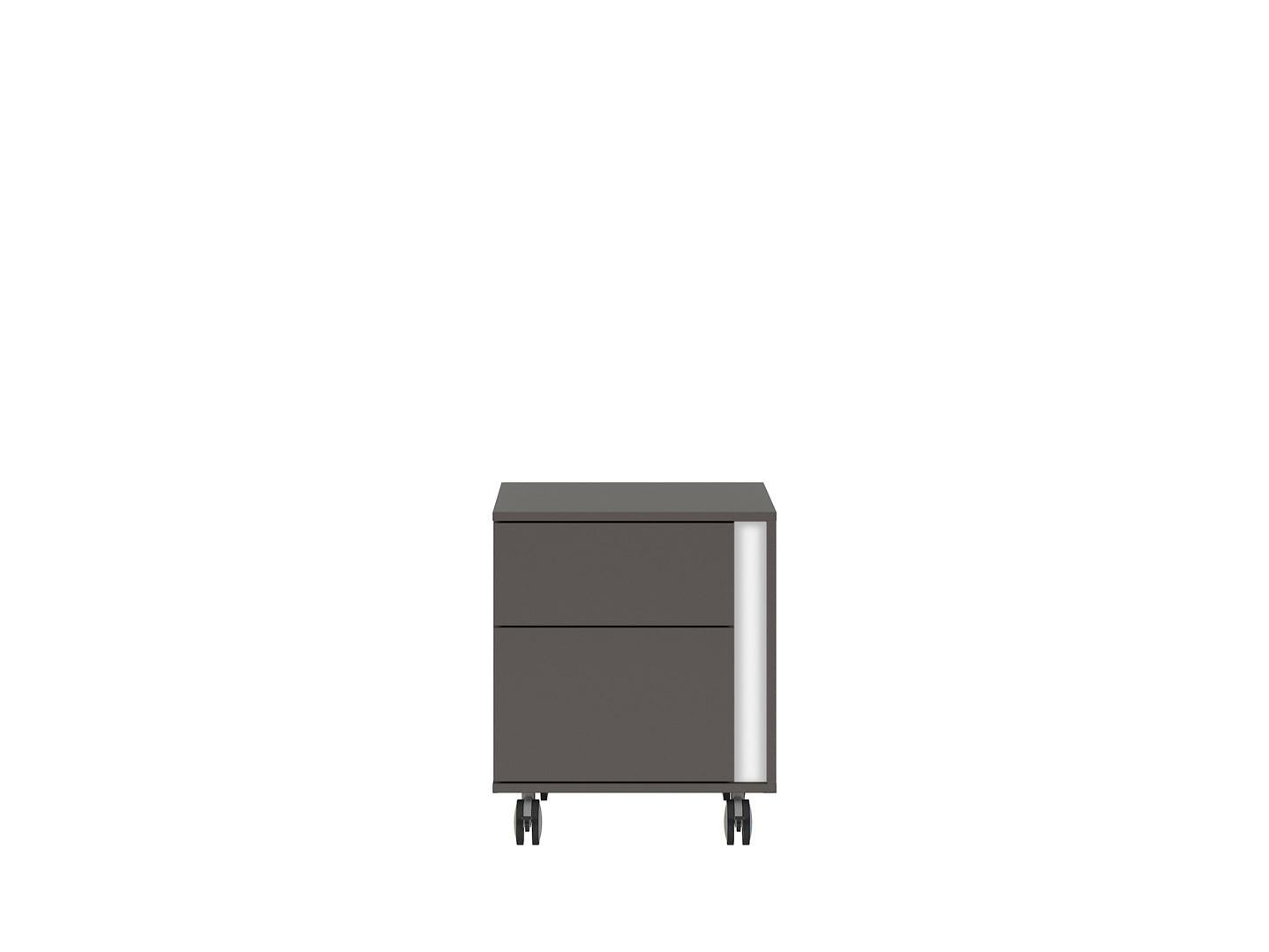 Kontajner na kolieskách GRAPHIC KTN2SL/C sivý wolfram