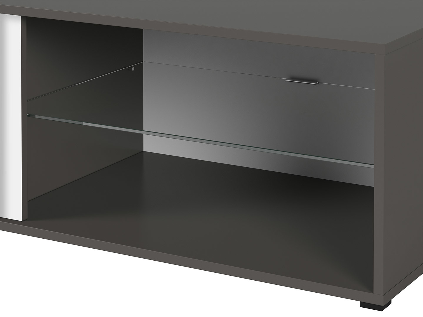 TV stolík GRAPHIC RTV2S/120/C sivý wolfram