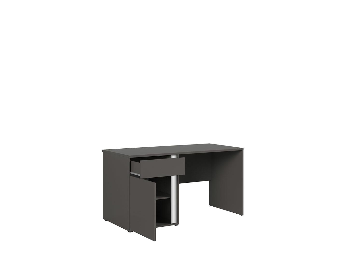 Kancelársky stôl GRAPHIC BIU1D1SL/C sivý wolfram