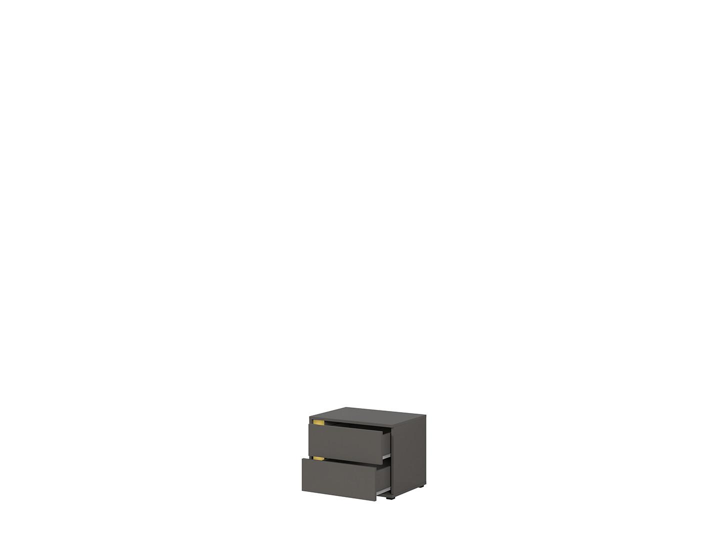 Nočný stolík GRAPHIC KOM2SP/C sivý wolfram