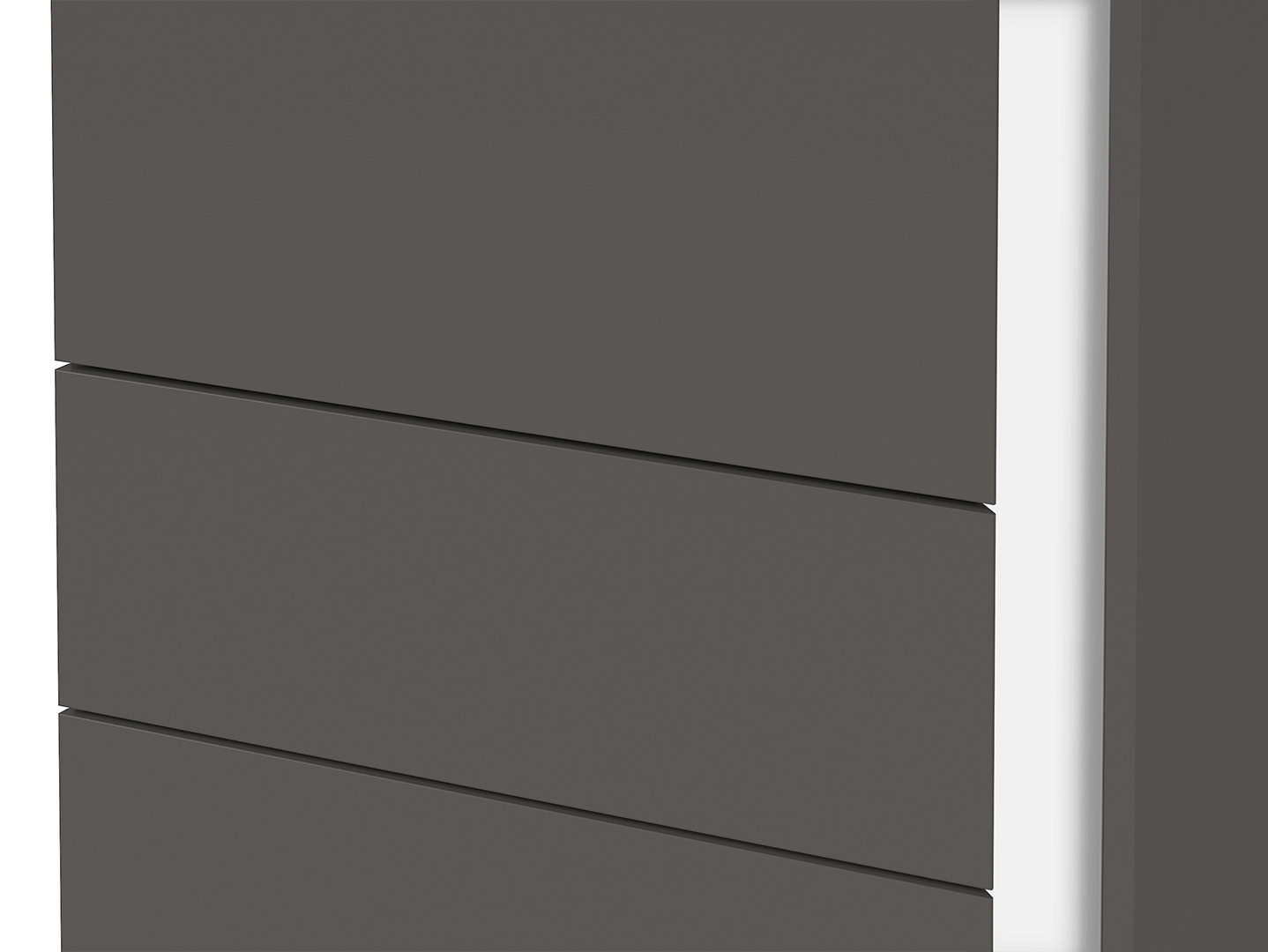 Skriňa GRAPHIC REG1DSL/C sivý wolfram
