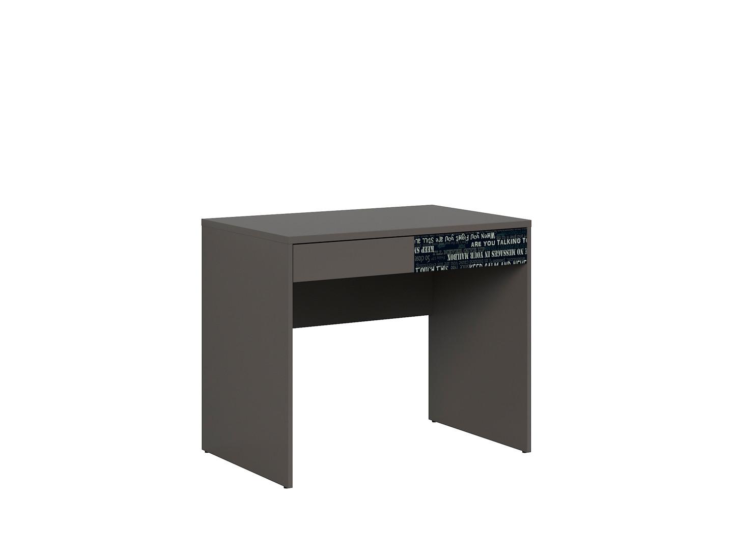 Kancelársky stôl GRAPHIC BIU2S/C sivý wolfram/sivý wolfram/čierny s nádpismi
