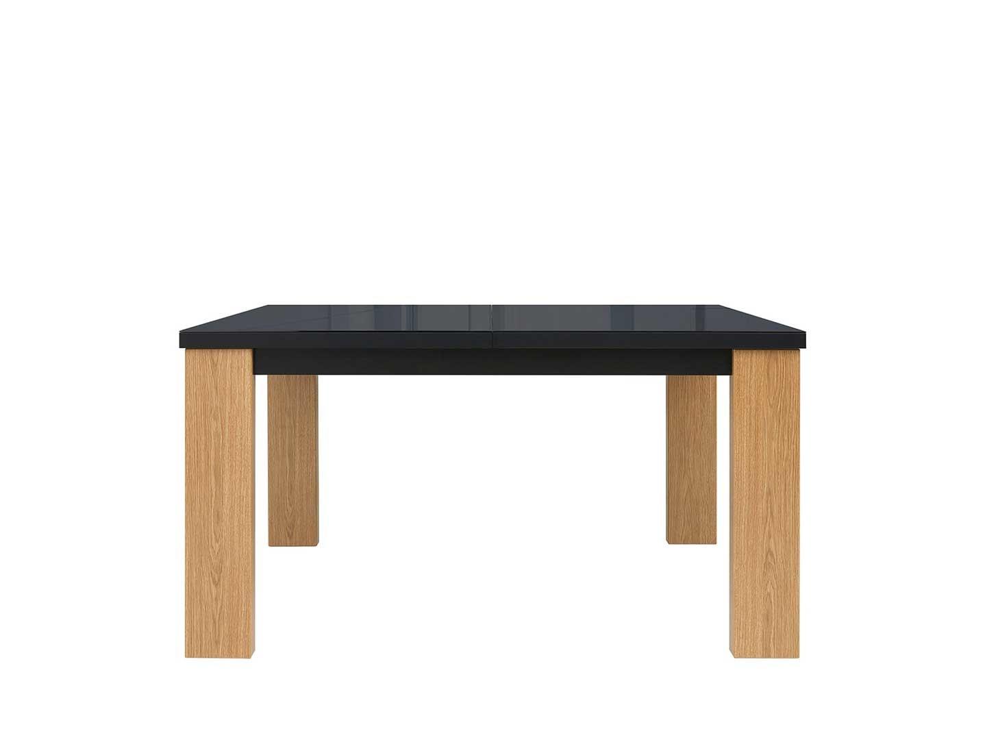 Jedálenský stôl AROSA STO/140 dub baltic/čierny lesk