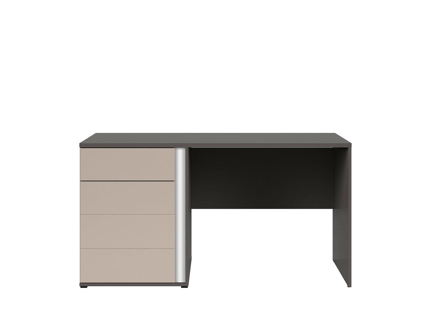 Kancelársky stôlGRAPHIC BIU1D1SL/A sivý wolfram/popiel