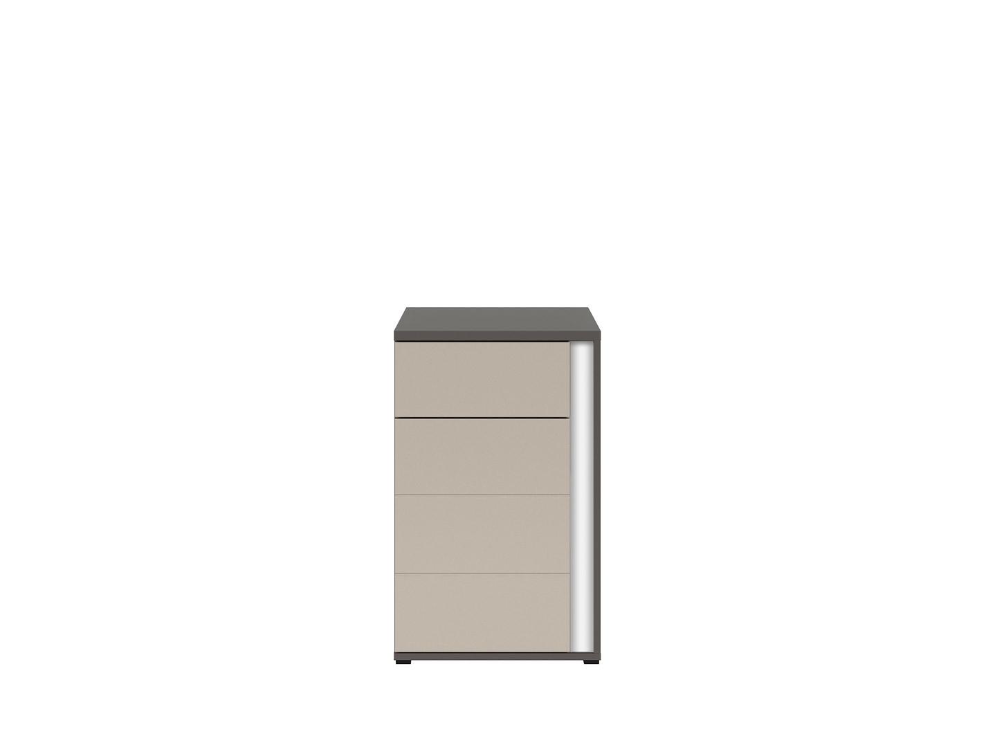 Skrinka GRAPHIC KOM1D1SL/A sivý wolfram/popiel