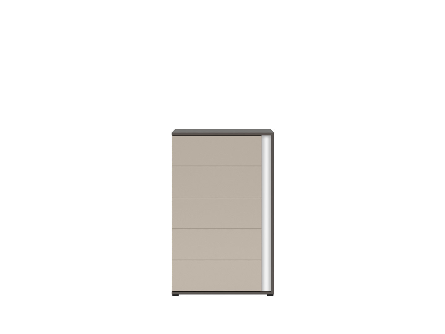 Skrinka GRAPHIC KOM1DL/A sivý wolfram/popiel