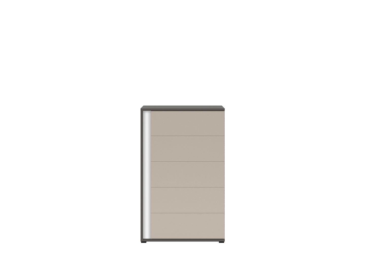 Skrinka GRAPHIC KOM1DP/A sivý wolfram/popiel