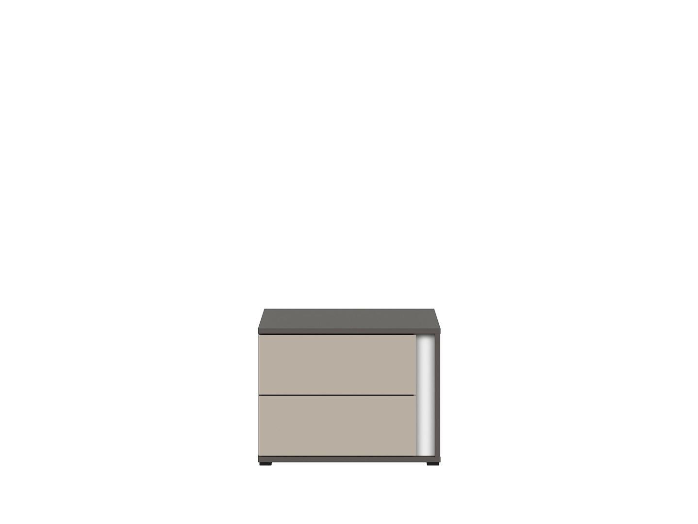 Nočný stolík GRAPHIC KOM2SL/A sivý wolfram/popiel