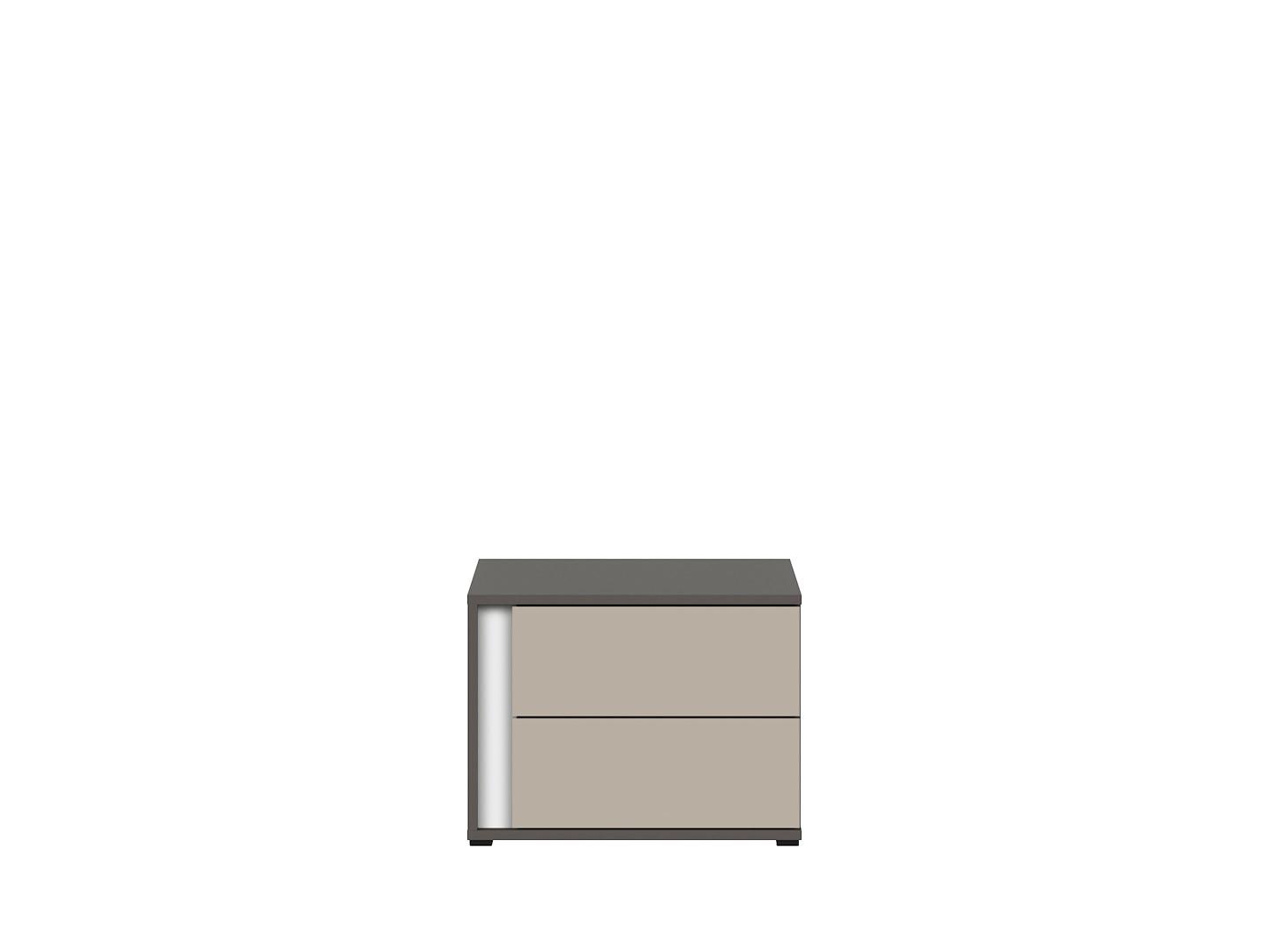 Nočný stolík GRAPHIC KOM2SP/A sivý wolfram/popiel