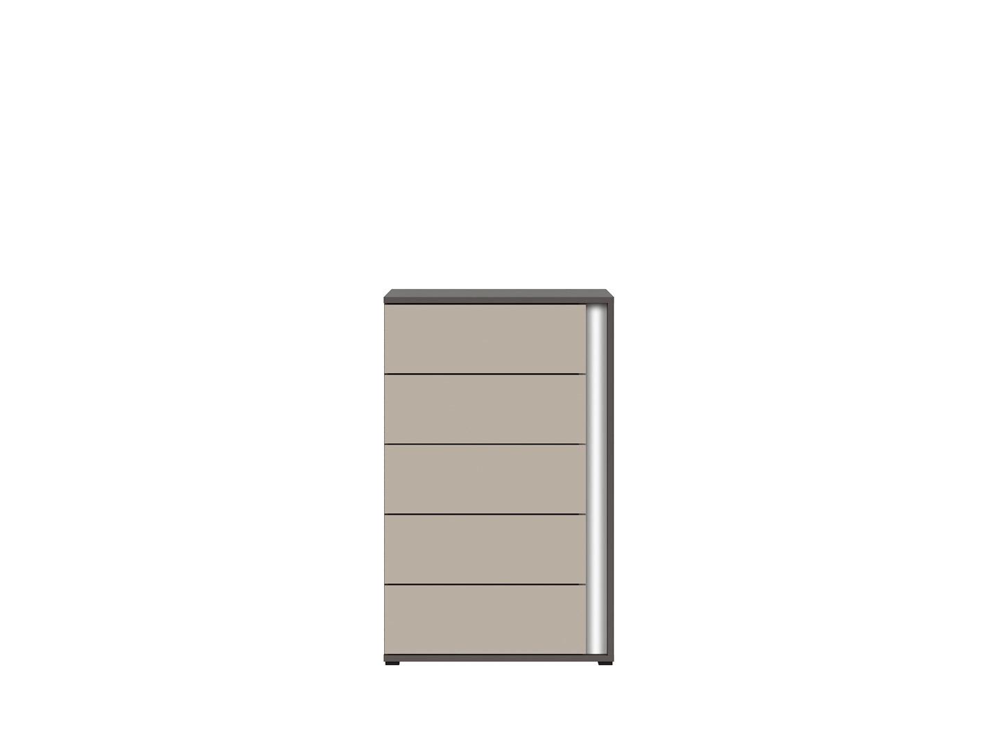 KomodaGRAPHIC KOM5SL/A sivý wolfram/popiel