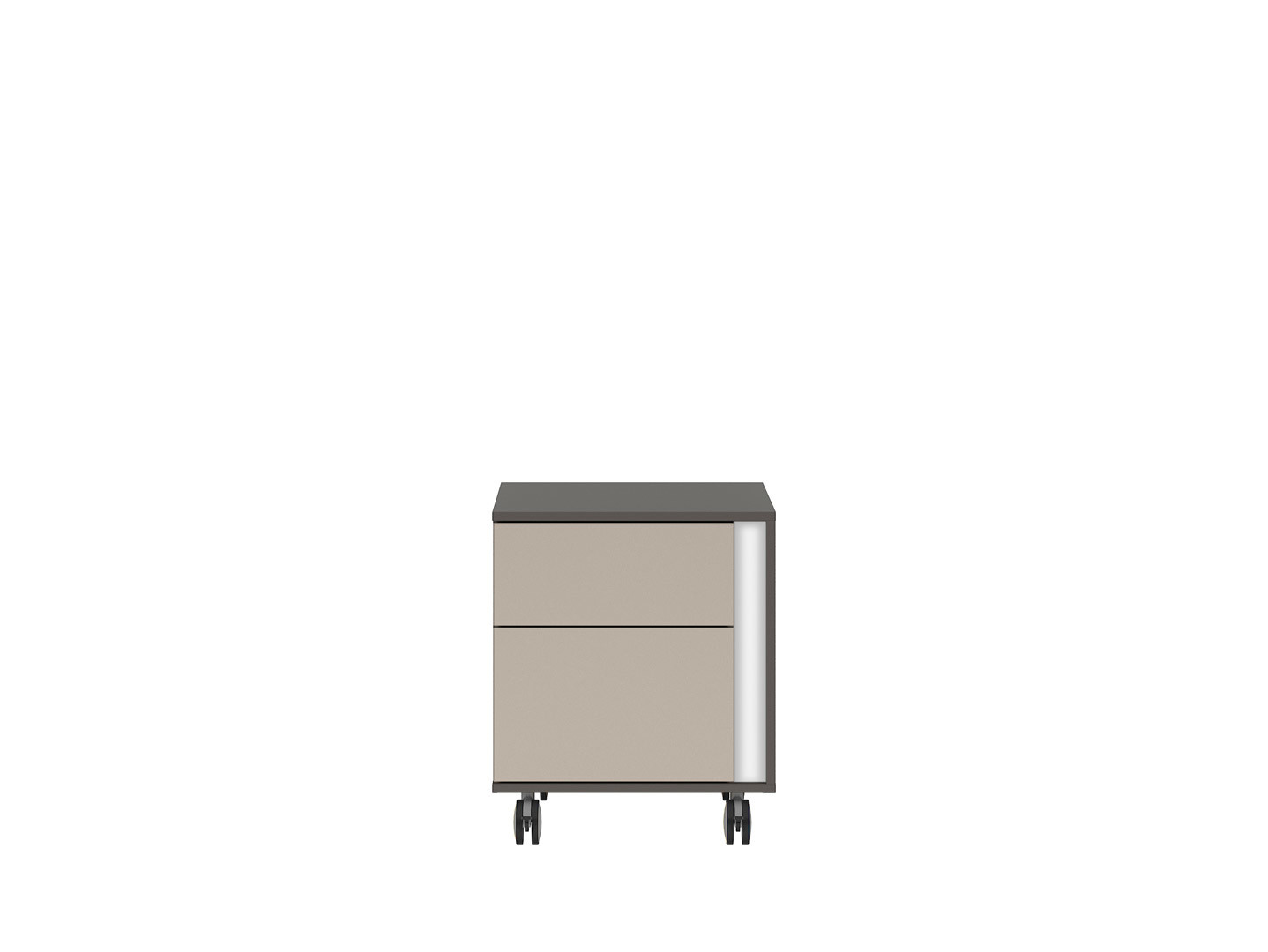Kontajner na kolieskách GRAPHIC KTN2SL/A sivý wolfram/popiel