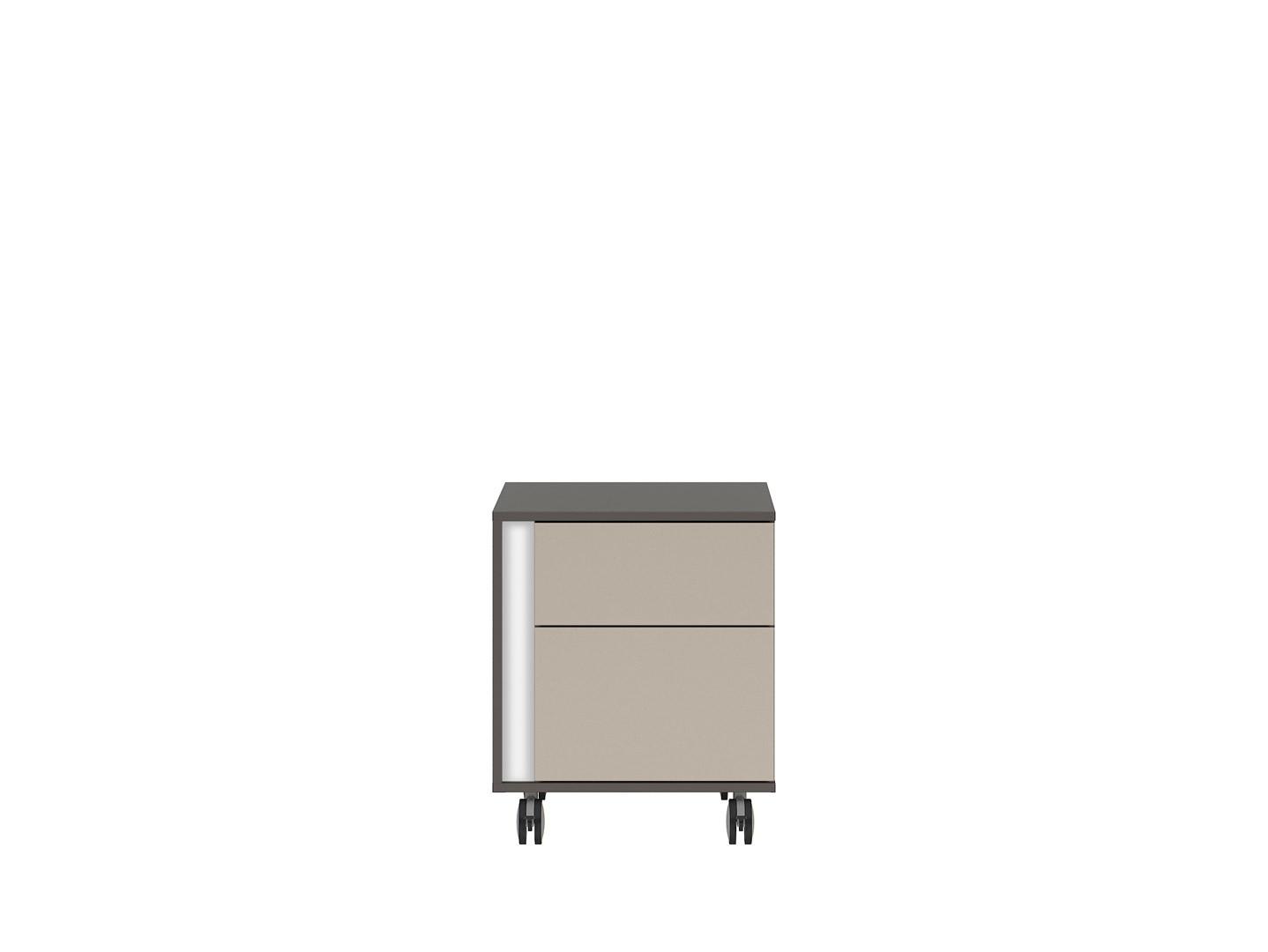 Kontajner na kolieskách GRAPHIC KTN2SP/A sivý wolfram/popiel