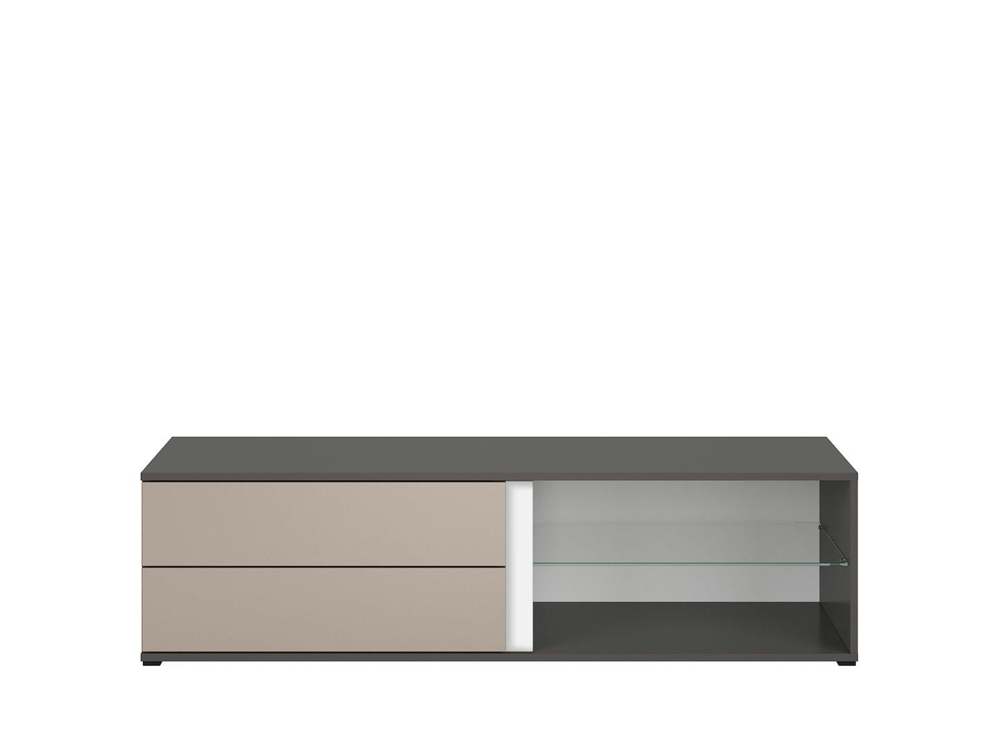 TV stolík GRAPHIC RTV2S/142/A sivý wolfram/popiel
