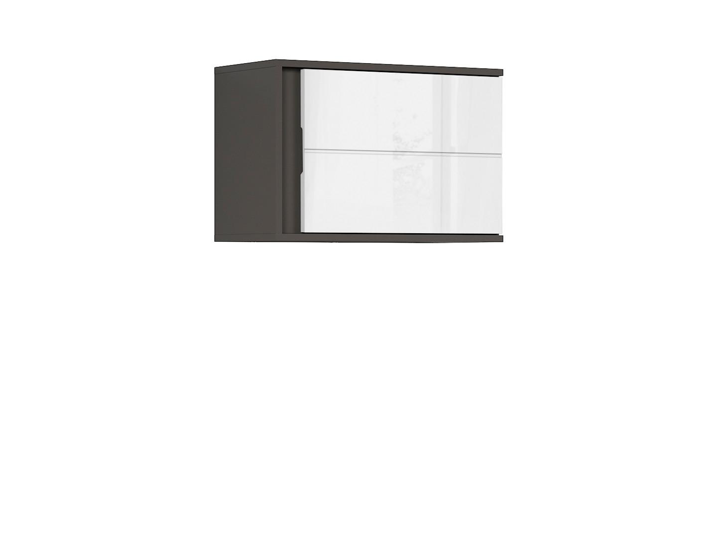 Závesná skrinka GRAPHIC SFW1DP/A sivý wolfram/biely vysoký lesk