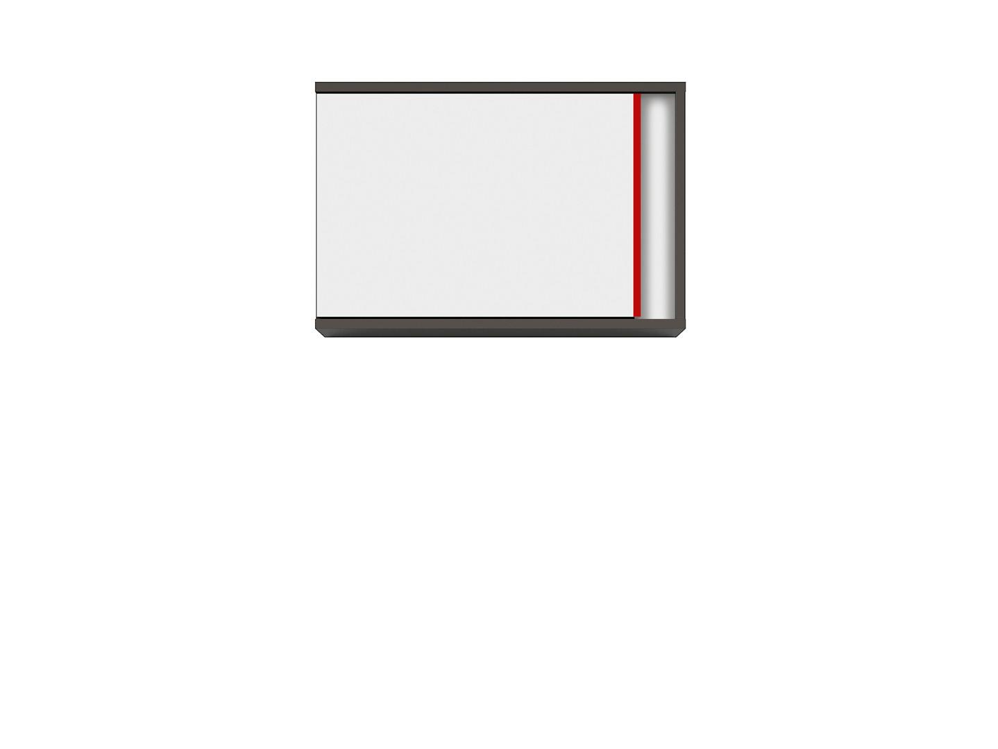 Závesná skrinka GRAPHIC SFW1DL/B sivý wolfram/biely/červený
