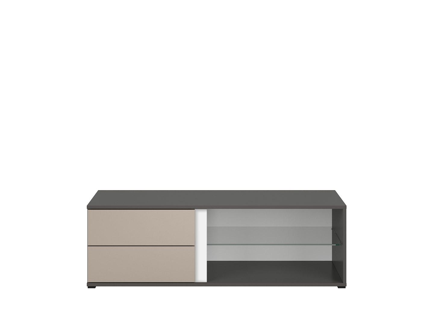 TV stolík GRAPHIC RTV2S/120/A sivý wolfram/popiel