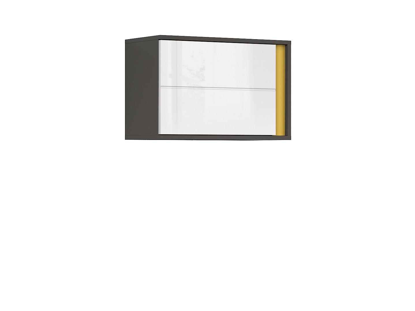 Závesná skrinka GRAPHIC SFW1DL/A sivý wolfram/biely vysoký lesk