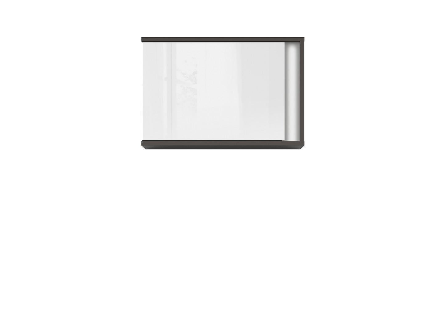 Závesná skrinka GRAPHIC SFW1DL/C sivý wolfram/biely zrkadlový lesk