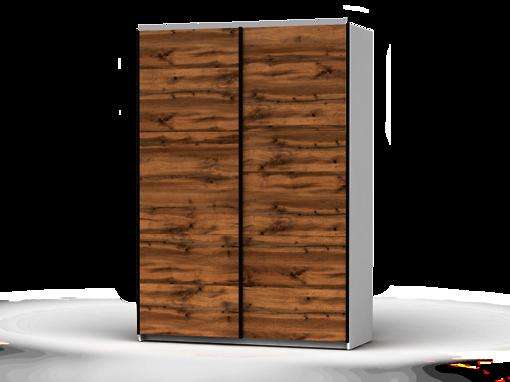 Šatníková skriňa Colin 153 cm biela/dub wotan
