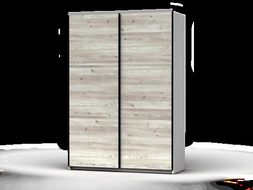 Šatníková skriňa Colin 153 cm biela/smrek sibiu svetly