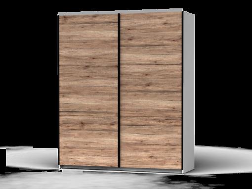 Šatníková skriňa Colin 183 cm biela/dub san remo