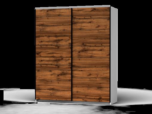 Šatníková skriňa Colin 183 cm biela/dub wotan