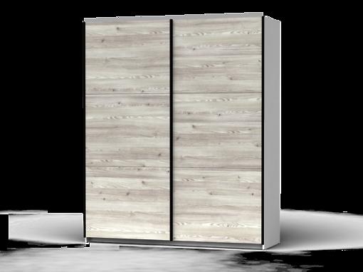 Šatníková skriňa Colin 183 cm biela/smrek sibiu jasny