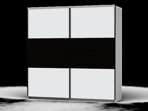 Šatníková skriňa Colin 220 cm biela/biela/dub wenge