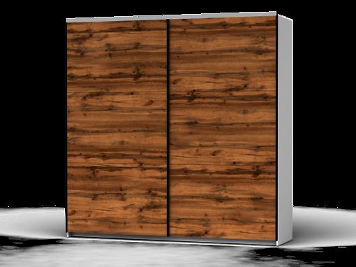 Šatníková skriňa Colin 220 cm biela/dub wotan
