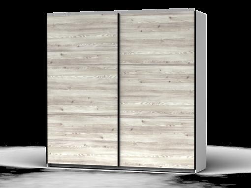 Šatníková skriňa Colin 220 cm biela/smrekovec sibiu svetly