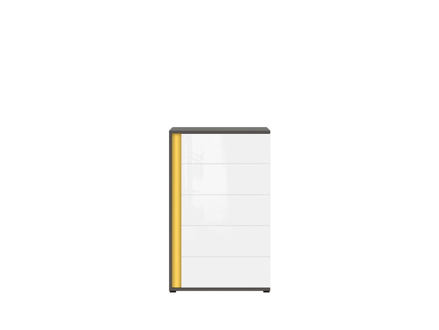 Skrinka GRAPHIC KOM1DP/A sivý wolfram/biely vysoký lesk