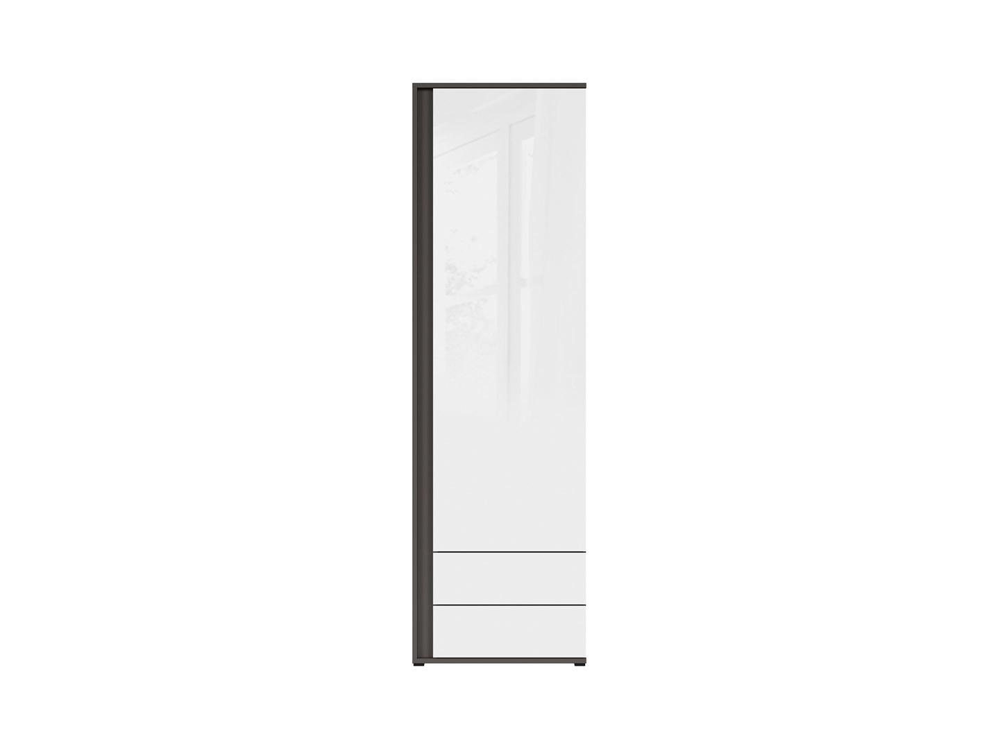 Skriňa GRAPHIC REG1DSP/C sivý wolfram/biely zrkadlový lesk
