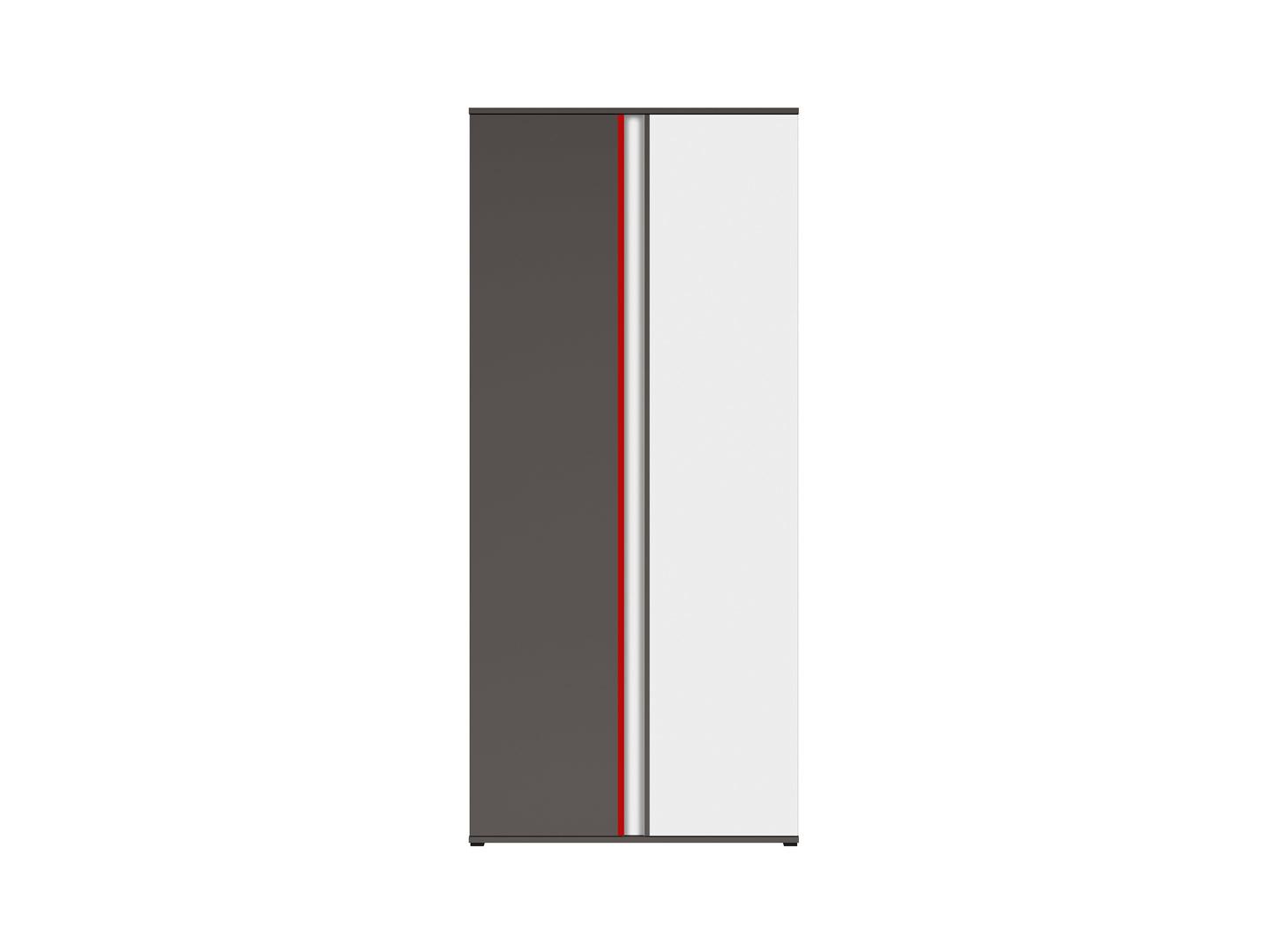 Skriňa GRAPHIC REG2D/86/B sivý wolfram/sivý wolfram/biely