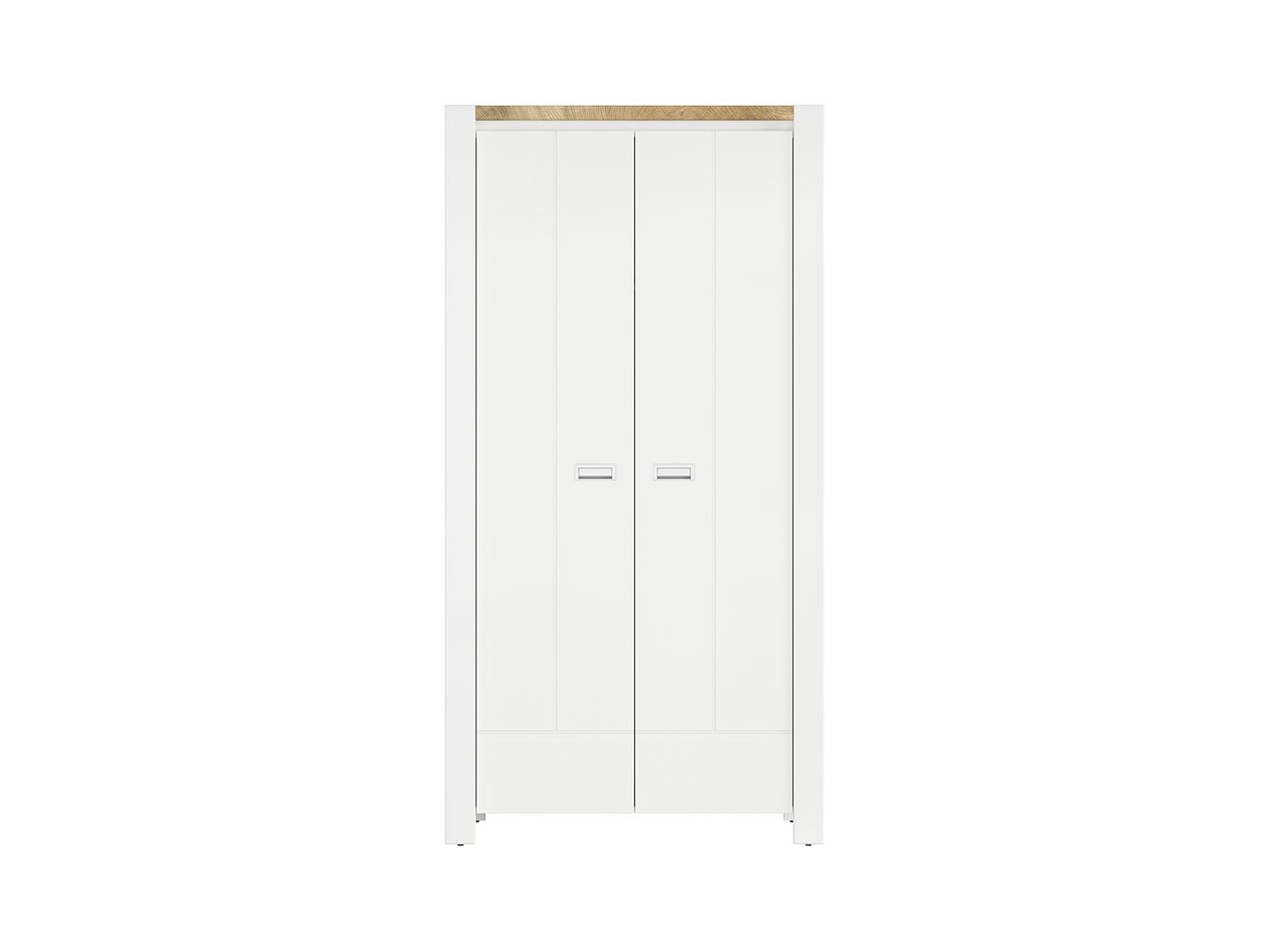 Skriňa DREVISO SZF2D/100 biela/dub westminster/biela